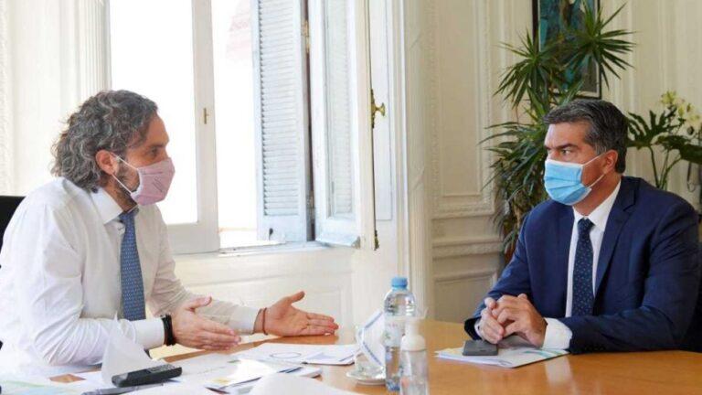 Jorge Capitanich con Santiago Cafiero