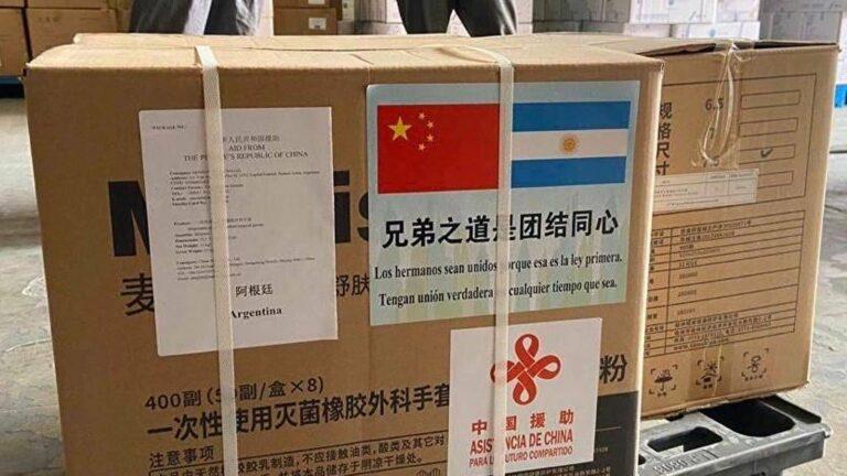 China envía insumos médicos desde el comienzo de la pandemia del Covid-19.