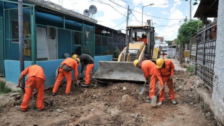 Obras de urbanización en Lanús