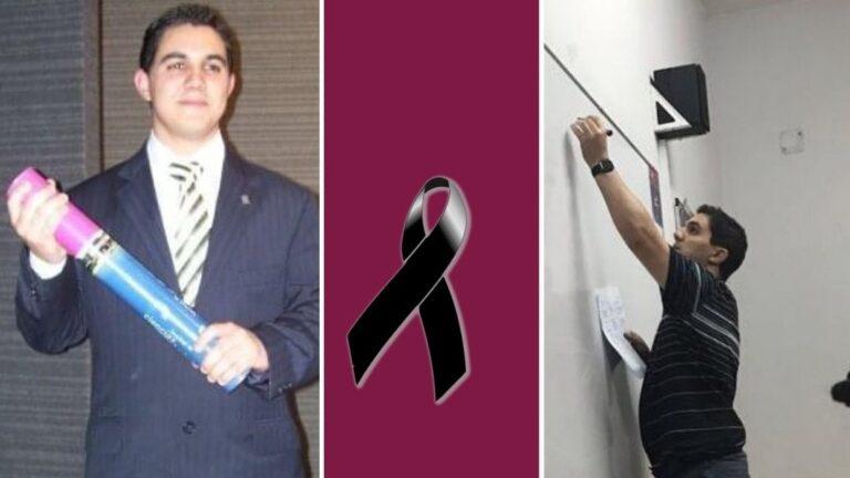La imagen con la que la UNLZ despidió a Fernando Rial, quien era un docente egresado de la institución.