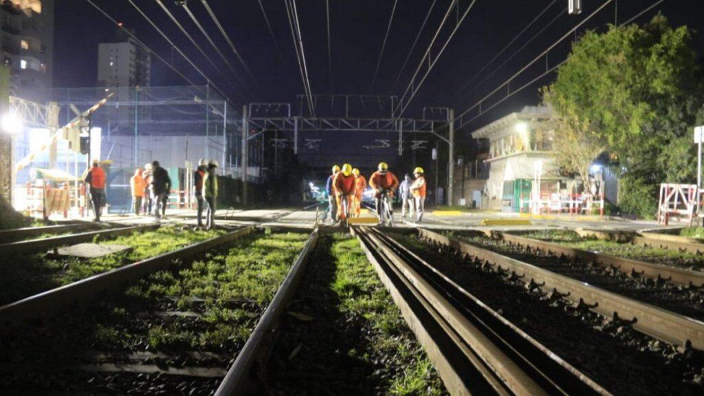 Los primeros trabajos se habían realizado de noche para no afectar el tránsito.