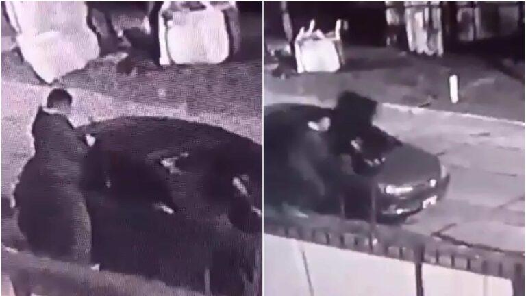 Todo se roba: en Temperley, le sacan el techo vidriado a un auto estacionado en la calle