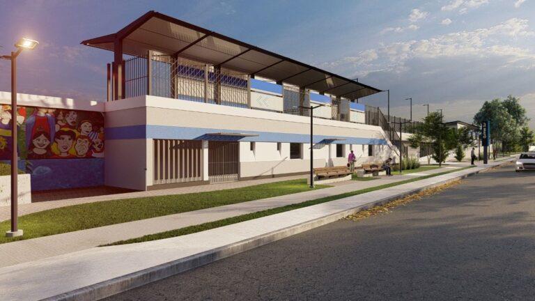 La imagen digital difundida muestra cómo sería la nueva estación Quilmes Sur.