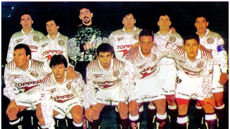 Conmebol 1996: el primer título ganado por Lanús en el máximo nivel, con Héctor Cúper como DT.