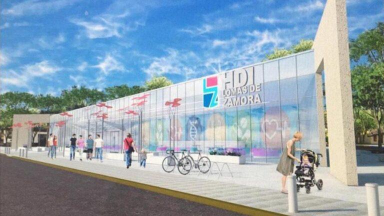 Así será la fachada del futuro hospital de Temperley.