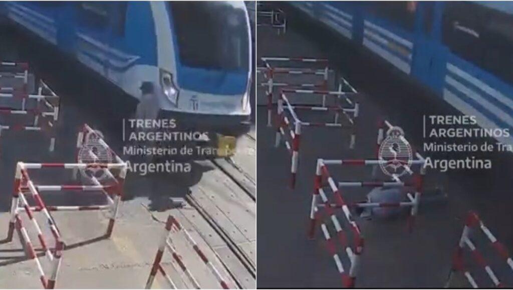 Milagro en el Ferrocarril Sarmiento: lo embistió un tren cuando caminaba juntos a las vías y sobrevivió