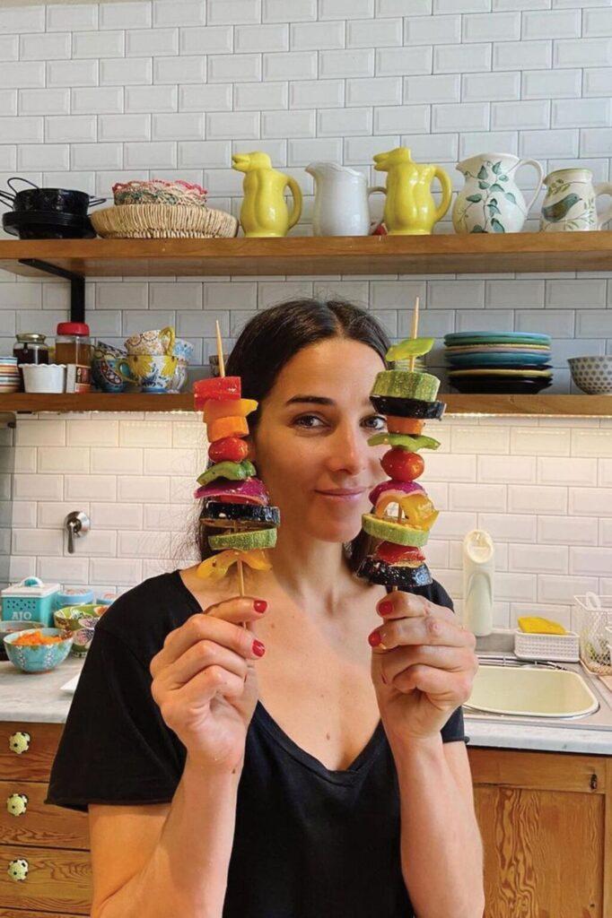 Juana en la cocina, durante uno de sus vivos en Instagram.