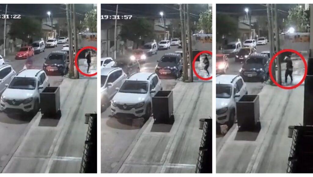 Terror en Villa Sarmiento: un almacenero salió a los tiros a correr a los ladrones que lo acababa de robar