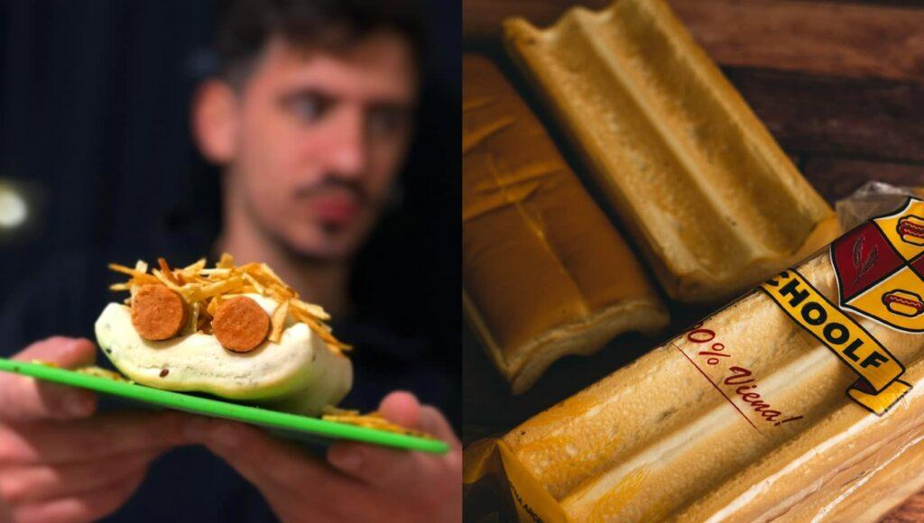 El pancho doble y el pan con canaleta