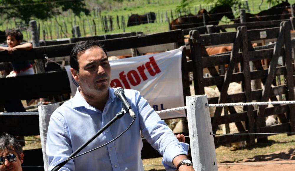 Gustavo Valdés pidió que se revean las restricciones a la exportación de carnes.