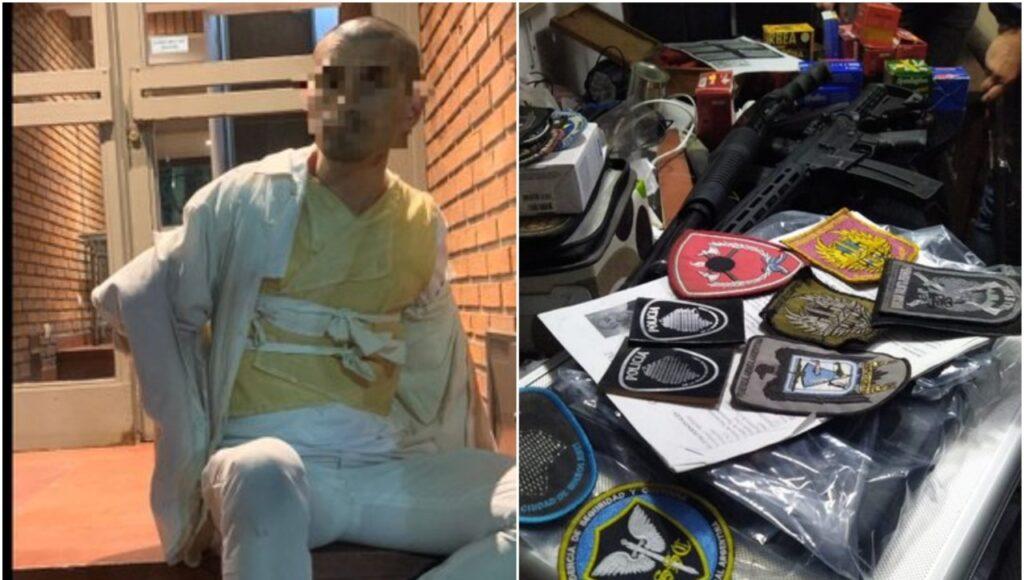 Tiene 44 años, es paciente psiquiátrico y hacía videos en un departamento de Chacarita que era un arsenal
