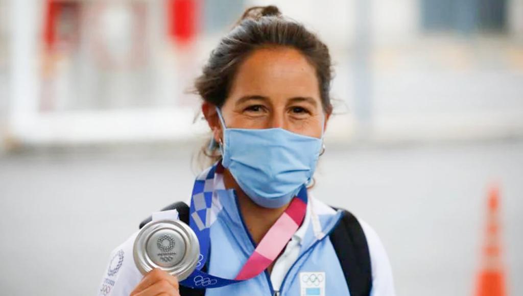 Sofía Maccari, con la medalla olímpica que le robaron