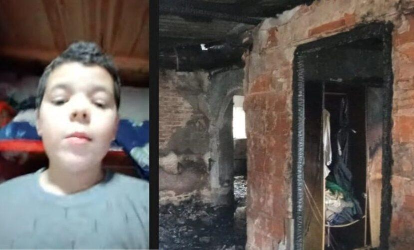 El nene de Boulogne y la imagen del incendio de su casa