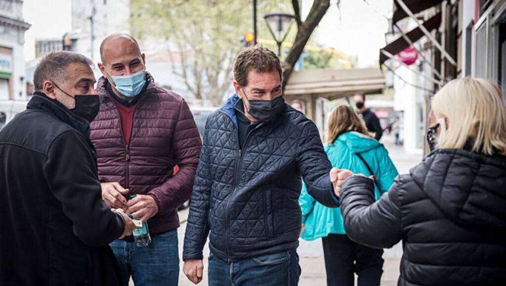 Diego Santilli y Martiniano Molina en Bernal, Quilmes