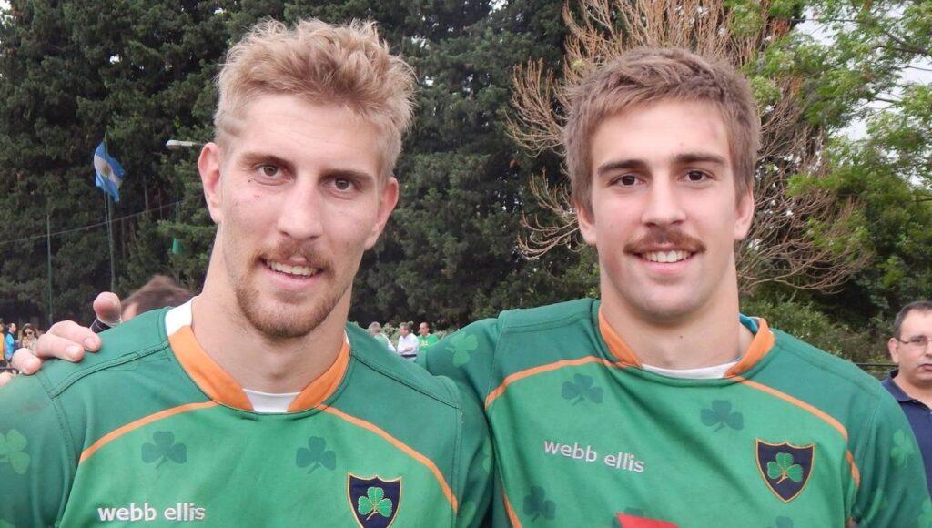 Lucas Pierazzoli con su hermano Mateo