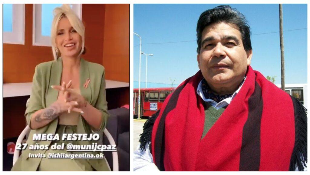 Florencia Peña convoca a la fiesta por el aniversario de José C. Paz pero no sabe cómo se llama Mario Ishii