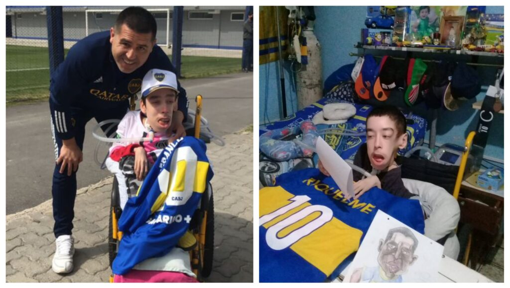 La conmovedora lucha de Franco Borgia, el hincha de Boca que emocionó a Juan Román Riquelme
