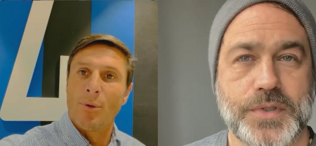 Javier Zanetti y Gastón Pauls, dos de los famosos que se sumaron a la movida solidaria.
